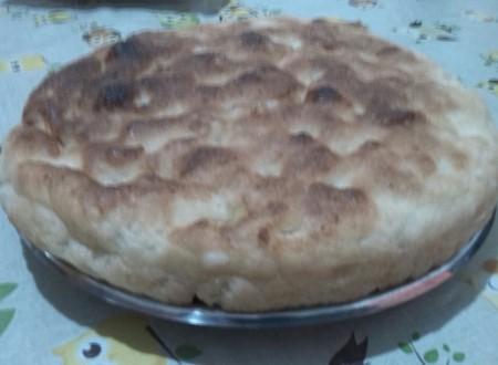 Focaccia vuota con farina di grano duro e grano tenero